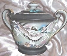 Vintage Japan Dragonware Sugar Bowl & Lid Hand Painted Gold Trim