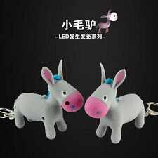 Cartoon cute donkey Light Up LED Torch With sound Keyrings KeyChain TOYS UKYS129