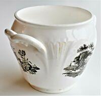 Antique Minton Sugar Box Bowl 19th century Bat Printed 10cm tall c.1800-40