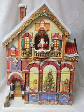 Deluxe Victorian House Christmas Advent Calendar 24 Doors Wood Santa Nutcracker