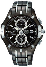 SEIKO Coutura SNAE57 SNAE57P9 Mens Alarm Dual Time Chronograph Watch NEW $895.00