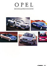 2002 Opel German Sales Brochure Catalog - Speedster Cabrio Frontera Vectra Astra