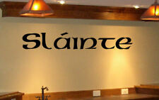Bar Wall Decal Graphic Slainte Irish Celtic Cheers A2 Made in USA