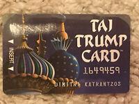 Trump Taj Mahal Hotel & Casino-Atlantic City,NJ-Taj Trump Card-Players Club-mint