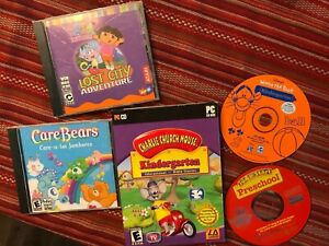 Lot of five kids PC games kindergarten and preschool