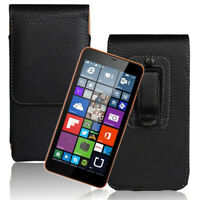 Vertical PU Leather Case Cover Pouch Flip Belt Clip For Universal Smart Phones