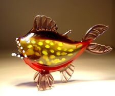 """Blown Glass Figurine  """"Murano"""" Art Fish PIRANHA"""
