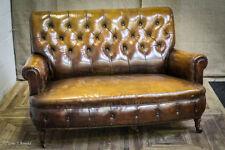 Leather Antique Sofas/Chaises