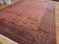 10x14 Gorgeous Pakistani Royal Bokhara wool Oriental Rug Rust/Red Bokara