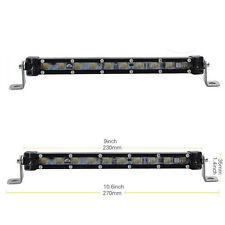 "2x 9"" CREE Led Light Bar Work Spot Beam Slim Offroad Driving Car Single Row 10"""