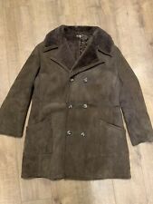 PAUL BLANCHE ENGLAND BROWN REAL SHEEPSKIN SHEARLING COAT JACKET SIZE 46