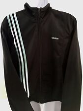 Adidas CLIMALite Knit TRACK Running Top Zipper HipHop Jacket (Oil Black, L)