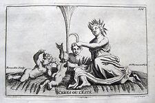 SOMMER ALLEGORIE CERES DEMETER S.THOMASSIN 1694 SUMMER L´ÉTÉ BASSIN DE CÉRÈS
