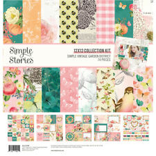Simple Stories Simple Vintage Garden District 12x12 Collection Kit Flowers