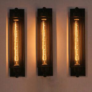 Modern Corridor Vintage Retro Industrial Black Ceiling Wall Light Lamp or Bulb
