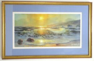 E. John Robinson Framed Print Touch of Gold Limited Edition 183/900 Ocean Sunset