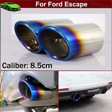 Blue Exhaust Muffler Tail Pipe Tip Tailpipe Cover Trim For Ford Escape 2014-2018
