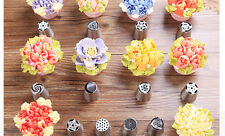 7PCS Russian Icing Piping Nozzles Tips Flower Cake Sugarcraft Decorating Tools