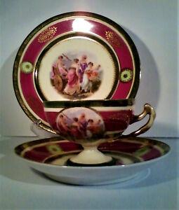 vintage Royal Epiag Tee Kaffee Sammeltasse Wiener Porzellan Bindenschild Watteau