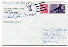 1966 NASA Guam Tracking Station Agana Guam Charles Force Director SPACE SIGNED