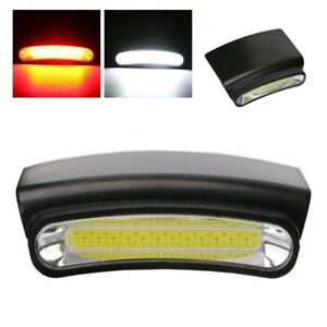 LED COB Cap Light Hands-Free Super Bright With Hunter Mode Clip On Hat Lamp US