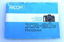 Ricoh XR-20SP Prog. Instruction manual booklet - English German French Spanish