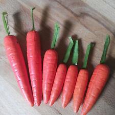 7 x Möhren Karotten Deko 7-12 cm Obst Attrappen Dekoration Gemüse Kunstgemüse