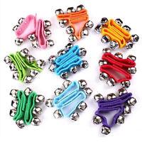 Baby Kids Nylon Wrist Foot Bells Rattles Ring Bracelet Sensory Toy Newborn Gift