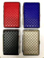 SUPER KING Size Cigarette Case  Leather Effect with DESIGN Hold 12-14 Cigarettes