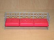 Barbie Pink 3 Seat Sofa - Couch, Seating, Dollhouse, Furniture - Mattel 2014