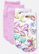 Justice Girl's 2 Pack UNICORN BALLOON Socks Size Small Medium New with Tags
