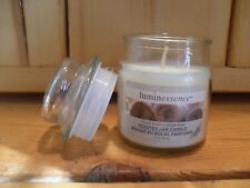 Luminessence FRESH LINEN Scented Candle Premium Soy Wax WHITE 3 OZ Mini Tumbler