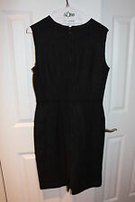Prada Black Tank Dress with Brown/ Black Trim Size: 44 Great Condition