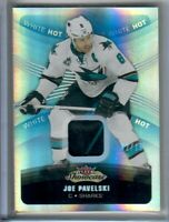 Joe Pavelski 2015-2016 Fleer Showcase White Hot 2-Color Patch # 2 of 15