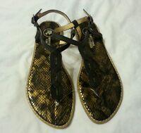 Mootsies Toosies Women Sandal Shoes Size 6.5 Animal Print