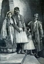 Arnauts or Christian Albanians....Antique  Engraving  1883