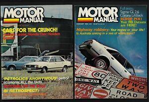 MOTOR MANUAL MAGAZINE 1980 FULL YEAR JAN-DEC PLUS BONUS XMAS ISSUE