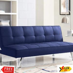 Corey Navy Blue Convertible Sofa - FreeShipping - Big Sale - New