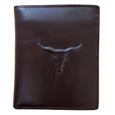 Mens Genuine Leather Wallet Zipper Coin Pocket Bifold Purse Credit Card Holders