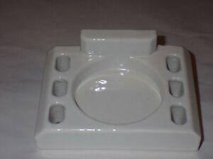 Vintage White Porcelain Cup & Toothbrush Holder