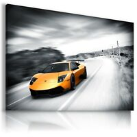 LAMBORGHINI MURCIELAGO ORANGE Cars  Wall Art Canvas Picture AU450  MATAGA