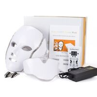 7 Colors LED Light Photon Face Mask Rejuvenation Skin Care Therapy Anti Wrinkles