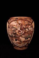 Large Antique Japanese Satsuma Pottery Vase, Taisho.