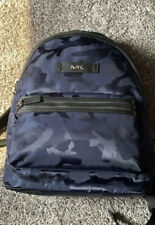 Michael Kors Men Camouflage Nylon Jacquard Backpack