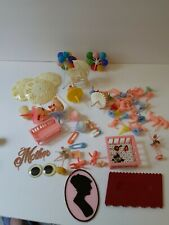 Lot OF Vintage  Hard Plastic Cupcake Picks & Cake Toppers a6