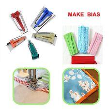 Tissu Bias Tape Maker outil coudre Quilting 6 mm 12 mm 18 mm 25 mm Alêne Craft Set