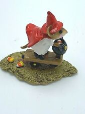 Wee Forest Folk Miniature Figurine M296 Scootin' with the Loot Halloween 2003