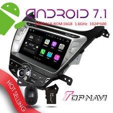 8'' Android 7.1 Car DVD Player Radio For Hyundai Elantra 2014 WIFI 3G +Map+CAM