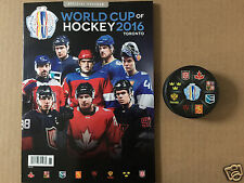 2016 World Cup of Hockey Official Program & Hockey Puck - Canada USA Russia ...