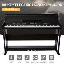 Classic 88 Key Music Electric Digital LCD Piano Keyboard w/Stand+3 Pedal Board